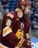 Joe Basaraba (Duluth - 18) - The University of Minnesota-Duluth Bulldogs defeated the Union College Dutchmen 2-0 in their NCAA East Regional Semi-Final on Friday, March 25, 2011, at Webster Bank Arena at Harbor Yard in Bridgeport, Connecticut.