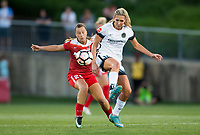 Boyds, MD. - Saturday, June 24 2017: Meggie Dougherty Howard, Allie Long during a regular season National Women's Soccer League (NWSL) match between the Washington Spirit and the Portland Thorns FC at Maureen Hendricks Field, Maryland SoccerPlex.<br />  The Washington Spirit defeated the Portland Thorns FC 1-0.