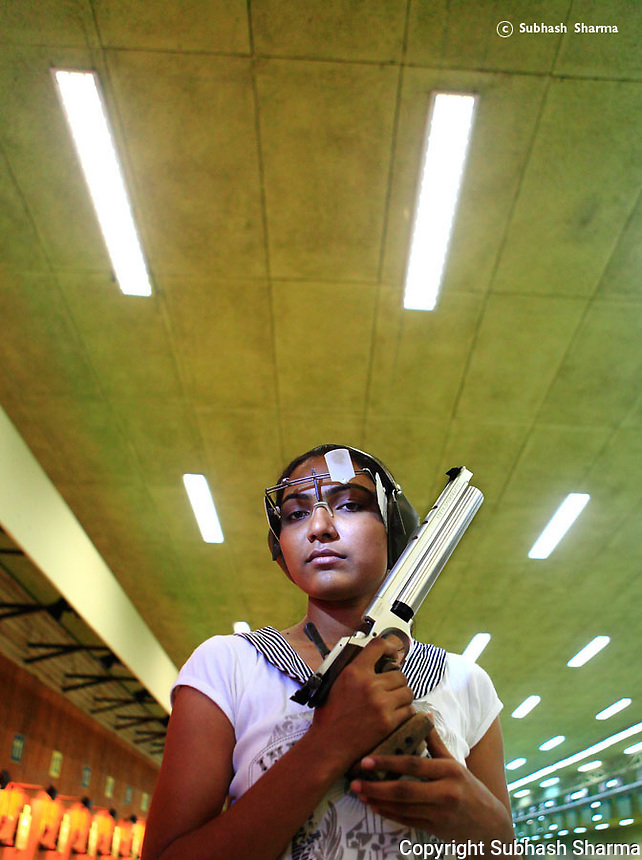 Portraits of Young Indian Athletes at the Common Wealth Games Delhi 2010.