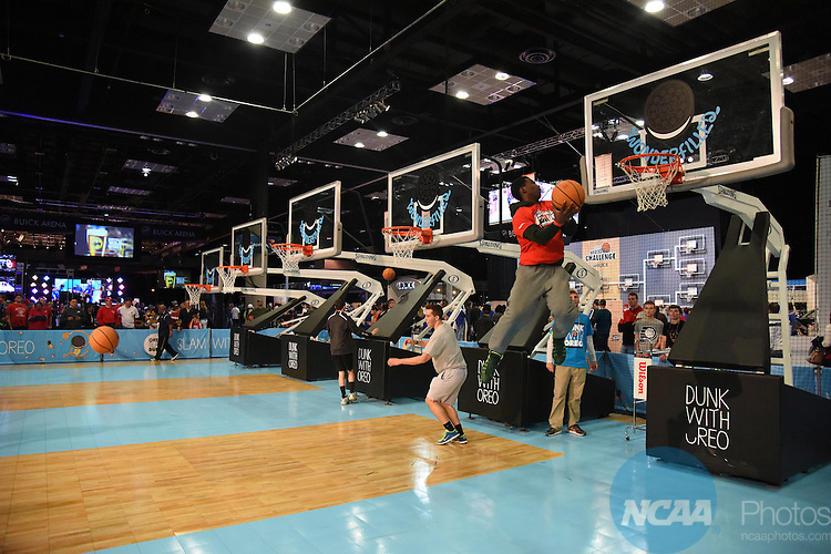 05 APR 2015: The Fan Fest takes place as part of the festivities surrounding the 2015 NCAA Men's DI Basketball Final Four Tournament held at Lucas Oil Stadium in Indianapolis, IN.  Derek Johnson/NCAA Photos