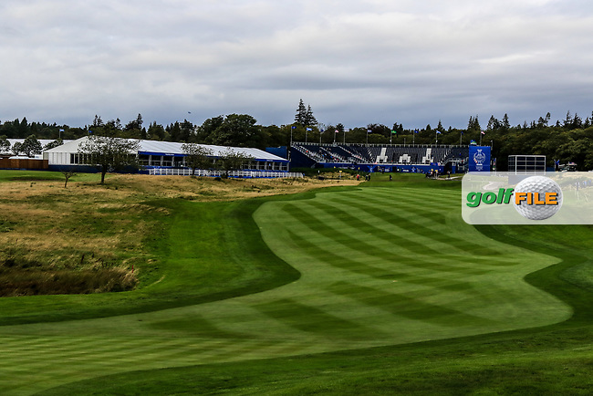 Looking back up the 1st during Day 2 Fourball at the Solheim Cup 2019, Gleneagles Golf CLub, Auchterarder, Perthshire, Scotland. 14/09/2019.<br /> Picture Thos Caffrey / Golffile.ie<br /> <br /> All photo usage must carry mandatory copyright credit (© Golffile | Thos Caffrey)