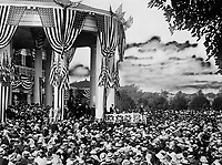 Woodrow Wilson accepts the Democratic Party nomination at his summer home in Long Branch, New Jersey, 1916.