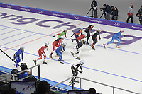 OLYMPIC GAMES: PYEONGCHANG: 24-02-2018, Gangneung Oval, Long Track, Start Mass Start Ladies, ©photo Martin de Jong