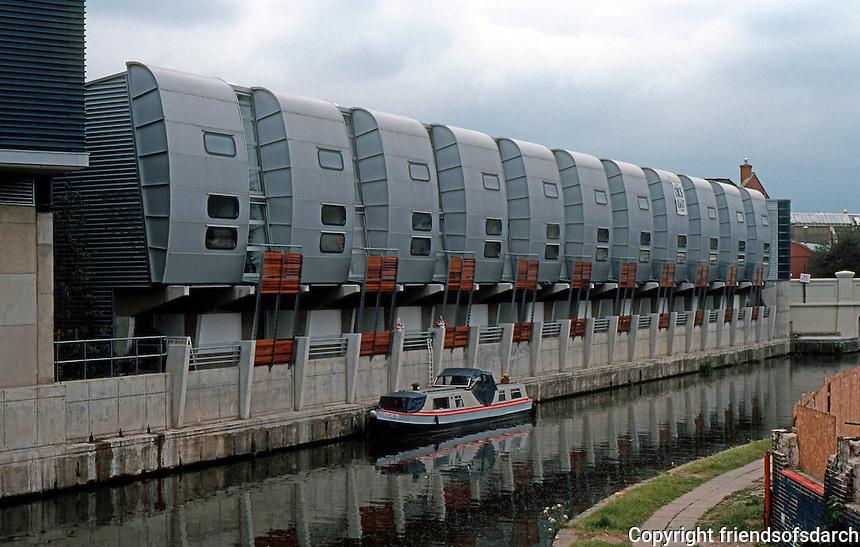 Nicholas Grimshaw: Sainsbury's Scheme--Housing along Regent's Canal.  Photo '90.