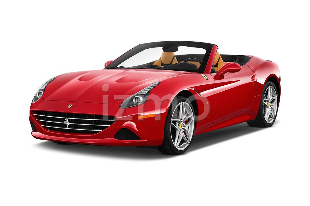 2016 Ferrari California-T 2 Door Convertible Angular Front stock photos of front three quarter view