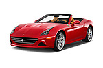2017 Ferrari California-T 2 Door Convertible Angular Front stock photos of front three quarter view
