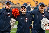 Virginia Cavaliers cheerleaders. The Pitt Panthers defeated the Virginia Cavaliers 31-14 at Heinz Field, Pittsburgh, PA on October 28, 2017.