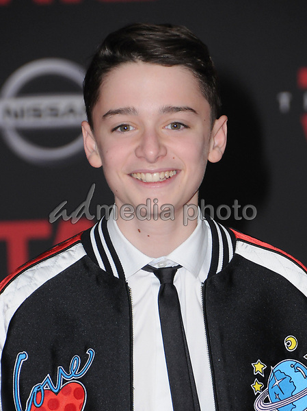 "09 December  2017 - Los Angeles, California - Noah Schnapp. Premiere Of Disney Pictures And Lucasfilm's ""Star Wars: The Last Jedi"" held at The Shrine Auditorium  in Los Angeles Photo Credit: Birdie Thompson/AdMedia"