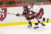 Andrea Green (BC - 21), Liza Ryabkina (Harvard - 3) - The Harvard University Crimson defeated the Boston College Eagles 5-0 in their Beanpot semi-final game on Tuesday, February 2, 2010 at the Bright Hockey Center in Cambridge, Massachusetts.