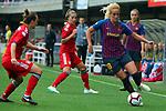 UEFA Women's Champions League 2018/2019.<br /> Semi Finals<br /> FC Barcelona vs FC Bayern Munchen: 1-0.<br /> Gina Lewandoswki vs Kheira Hamraoui.