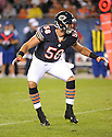 DOM DECICCO (58), of the Chicago Bears, in action during the Bears preseason game against the Denver Broncos on August 9, 2012 at Soldier Field in Chicago, IL. The Broncos beat the Bears 31-3.