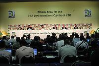 ATENCAIO EDITOR FOTO EMBARGADA PARA VEICULO INTERNACIONAL - SAO PAULO, SP, 28 DE NOVEMBRO 2012 - COLETIVA FIFA - coletiva da FIFA edo Comitê Organizador da Copa do Mundo (COL) na tarde desta quarta-feira, 28 na regiao norte da capital paulista. FOTO: VANESSA CARVALHO BRAZIL PHOTO PRESS.