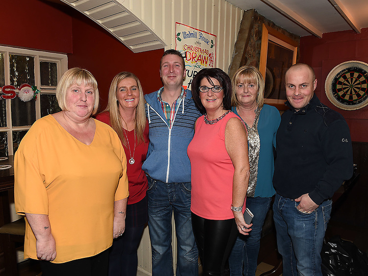 Gary O'Rourke celebrating his 30th birthday in The Windmill bar with mother Linda, aunts Shirley, Sandra and Paula and uncle Anthony. Photo:Colin Bell/pressphotos.ie