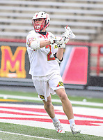 College Park, MD - April 15, 2018: Maryland Terrapins Bubba Fairman (2) makes a pass during game between Rutgers and Maryland at  Capital One Field at Maryland Stadium in College Park, MD.  (Photo by Elliott Brown/Media Images International)