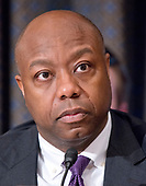 United States Senator Tim Scott (Republican of South Carolina) during the confirmation hearing for R. Alexander Acosta, Dean of Florida International University College of Law and US President Donald J. Trump's nominee for US Secretary of Labor, on Capitol Hill in Washington, DC on Wednesday, March 22, 2017.<br /> Credit: Ron Sachs / CNP