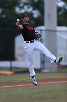 Josiah Miller (71) of Lincoln High School in Tallahassee, Florida during the Under Armour Baseball Factory National Showcase, Florida, presented by Baseball Factory on June 13, 2018 the Joe DiMaggio Sports Complex in Clearwater, Florida.  (Nathan Ray/Four Seam Images)
