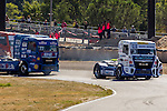 German driver Jochen  Hahn belonging German team Jochen Hahn and German driver Rene Reinert belonging German team Rene Reinert during the third race R3 of the XXX Spain GP Camion of the FIA European Truck Racing Championship 2016 in Madrid. October 02, 2016. (ALTERPHOTOS/Rodrigo Jimenez)