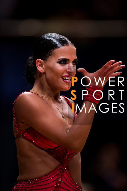 Emma-Leena Koger of Germany during the WDSF GrandSlam Latin on the Day 1 of the WDSF GrandSlam Hong Kong 2014 on May 31, 2014 at the Queen Elizabeth Stadium Arena in Hong Kong, China. Photo by AItor Alcalde / Power Sport Images