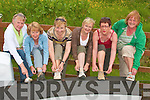 Tying their laces for the walk in aid of Listowel MS society and wheelchair association in Lyrecrompane on Sunday were Betty Walsh, Rita McCarthy, Sheila Brosnan, Breda Galwey, Elaine Kearney and Mary Cronin...   Copyright Kerry's Eye 2008