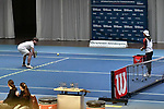 05.01.2018, Estrel Congress Center, Berlin, GER,  Internationaler DTB Tenniskongress 2019 <br /> <br /> im Bild Niklas Hoefken demonstriert Uebungsformen im Themenbereich das Inklusion im Tennistraining<br /> <br /> Foto © nordphoto/Mauelshagen