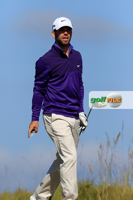 Paul CASEY (ENG) on the 18th tee during Wednesday's Practice Day of the 2015 U.S. Open 115th National Championship held at Chambers Bay, Seattle, Washington, USA. 6/17/2015.<br /> Picture &copy; Golffile/Eoin Clarke