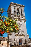 Spanien, Andalusien, Provinz Cádiz, Arcos de la Frontera: Kirche Iglesia de Santa Maria de la Asunción   Spain, Andalusia, Province Cádiz, Arcos de la Frontera: church Iglesia de Santa Maria de la Asunción