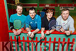 Mike Walsh, Padraig McMahon, Grainne Toomey and Martin McCarthy members of the Ballybunion Base Liners badminton club raving to go, as they are hosting a fundraising dance for their badminton club on the 21st March