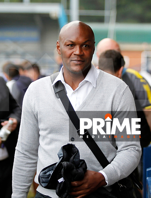 Ex-Wimbledon player Marcus Gayle seen prior to the Carabao Cup match between AFC Wimbledon and Brentford at the Cherry Red Records Stadium, Kingston, England on 8 August 2017. Photo by Carlton Myrie.