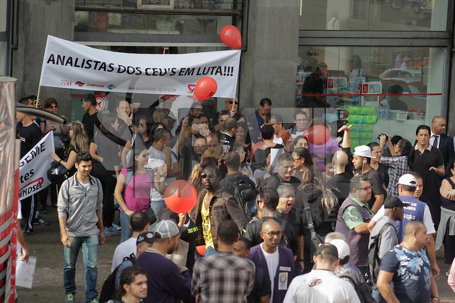 SÃO PAULO, SP, 26.05.2015 - PROTESTO-SP - Servidores públicos do município de São Paulo realizam Ato em frente a Prefeitura na região central da cidade na tarde desta terça-feira, 26.  (Foto: Renato Mendes/Brazil Photo Press)