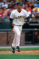SAN FRANCISCO, CA - Jeff Kent of the San Francisco Giants bats during a game at AT&T Park in San Francisco, California in 2001. Photo by Brad Mangin