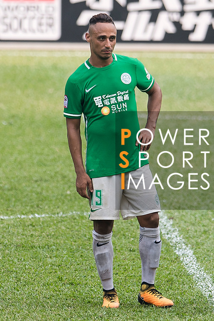David Rafael Lazari Zana of Wofoo Tai Po in action during the week three Premier League match between BC Rangers and Wofoo Tai Po at Sham Shui Po Sports Ground on September 17, 2017 in Hong Kong, China. Photo by Marcio Rodrigo Machado / Power Sport Images