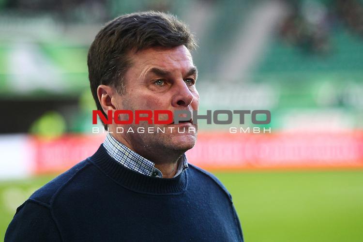 22.02.2015, Volkswagen Arena, Wolfsburg, GER, 1.FBL, VfL Wolfsburg vs Hertha BSC, im Bild Dieter Hecking (Trainer Wolfsburg) (Querformat)<br /> <br /> Foto &copy; nordphoto / Schrader