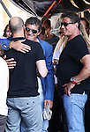 Kellan Lutz, Wesley Snipes, Jason Statham, Sylvester Stallone and Antonio Banderas present the film ´The Expendables 3'. In the Pic: Jason Staham, Antonio Banderas and Silvester Stallone, in Marbella, Spain. August, 5 of 2014. (ALTERPHOTOS/Carlos Dafonte)
