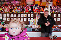 4/10/2010.  A taveler girl at the fun fair during the Ballinasloe Horse Fair, Ballinasloe, Ireland. Picture James Horan
