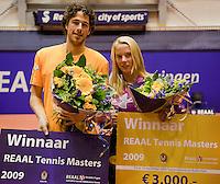 13-12-09, Rotterdam, Tennis, REAAL Tennis Masters 2009,  Robin Haase  en Richel Hogenkamp, winnaars masters