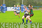 Tralee's Siobhan Fleming and Highfeild's Gerda Coyne in action in the Women's All Ireland league on Sunday.