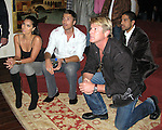 **EXCLUSIVE**.Roselyn Sanchez, Eric Winter and Adam Rodriguez watching the fight between Manny Pacquiao and Ricky Hattonon on TV..The Rally for Kids with Cancer Scavenger Cup - Winners Gala..Private Mansion, Beverly Park..Beverly Hills, CA, USA.Saturday, May 02, 2009. .Photo By Celebrityvibe.com.To license this image please call (212) 410 5354; or Email: celebrityvibe@gmail.com ;.website: www.celebrityvibe.com
