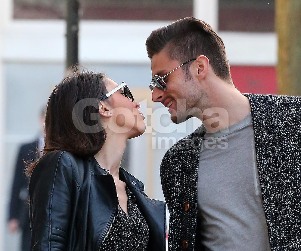 Arsenal Striker Olivier Giroud And His Wife Jennifer Share A Kiss Gotcha Images