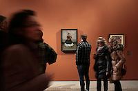 il cane Itzcuintli ed io<br /> Roma 18-03-2014 Scuderie del Quirinale. Inaugurazione vernissage della mostra dedicata a Frida Kahlo.<br /> Opening of the exhibition of Frida Kahlo.<br /> Photo Samantha Zucchi Insidefoto