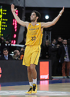 Herbalife Gran Canaria's Javier Beiran celebrates during Spanish Basketball King's Cup match.February 07,2013. (ALTERPHOTOS/Acero) /NortePhoto