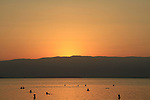 Israel, sunrise at the Dead Sea