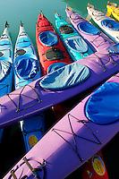 Kayaks in the Valdez Small Boat Harbor, Valdez, Alaska