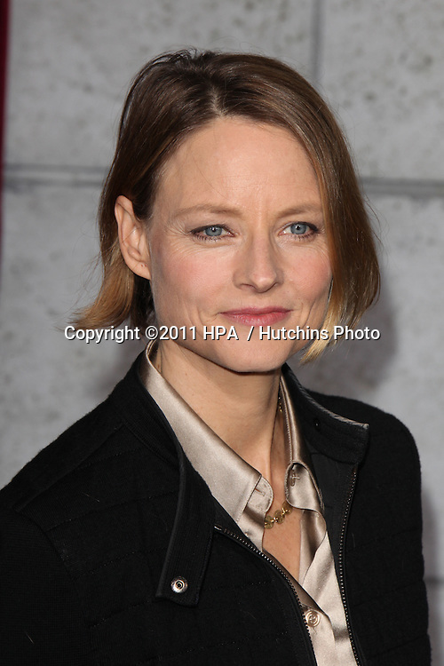 "LOS ANGELES - DEC 6:  Jodie Foster arrives at the ""Sherlock Holmes: A Game of Shadows"" Los Angeles Premiere at Regency Village Theatre on December 6, 2011 in Westwood, CA"
