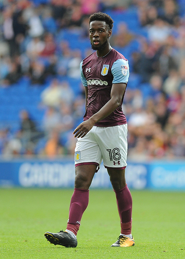Aston Villa's Joshua Onomah <br /> <br /> Photographer Ashley Crowden/CameraSport<br /> <br /> The EFL Sky Bet Championship - Cardiff City v Aston Villa - Saturday August 12th 2017 - Cardiff City Stadium - Cardiff<br /> <br /> World Copyright &copy; 2017 CameraSport. All rights reserved. 43 Linden Ave. Countesthorpe. Leicester. England. LE8 5PG - Tel: +44 (0) 116 277 4147 - admin@camerasport.com - www.camerasport.com