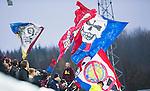 S&ouml;dert&auml;lje 2014-11-09 Fotboll Kval till Superettan Assyriska FF - &Ouml;rgryte IS :  <br /> &Ouml;rgrytes supportrar med flaggor under matchen mellan Assyriska FF och &Ouml;rgryte IS <br /> (Foto: Kenta J&ouml;nsson) Nyckelord:  S&ouml;dert&auml;lje Fotbollsarena Kval Superettan Assyriska AFF &Ouml;rgryte &Ouml;IS supporter fans publik supporters