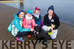 Eve Costello (Castlegregory) with her dog Jessie with  Ann, Ella and Deirdre O'Donoghue (Tralee) at the Let's get Kerry walking, National Operation Transformation Walk in the Tralee Bay Wetlands on Saturday.