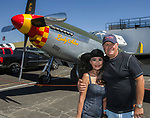 Ratana and Mike Latimer during the National Championship Air Races in  Reno, Nevada on Saturday, Sept. 14, 2019.