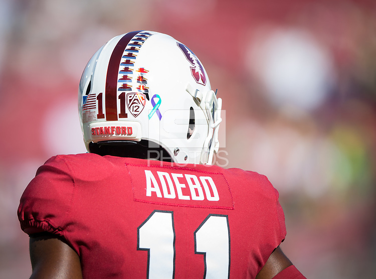 Stanford, CA - September 21, 2019: Paulson Adebo at Stanford Stadium. The Stanford Cardinal fell to the Oregon Ducks 21-6.