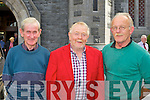 Den Joe Cremins, Kevin Curtin Castleisland and Jack Ahern Currow at Con Houlihan's funeral in St Stephen and John church Castleisland on Friday....