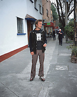 A young man in the trendy neighbourhood of Condesa in Mexico City. 05-04-04